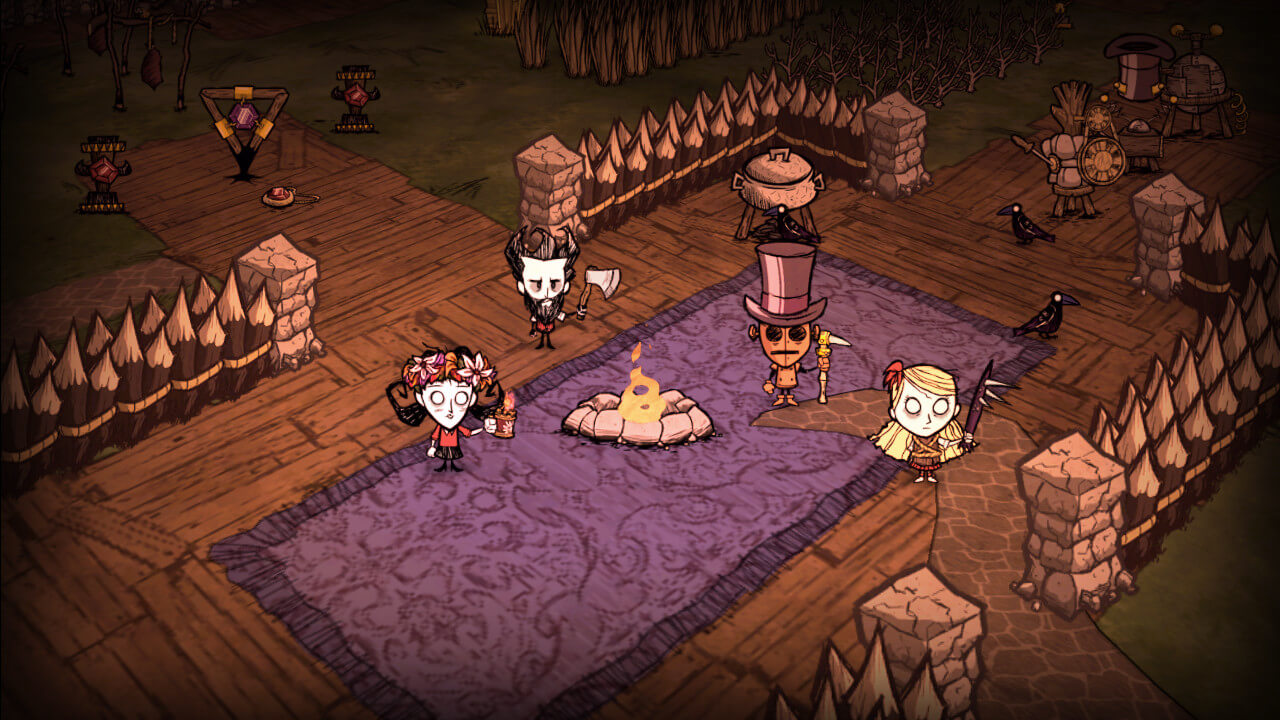 Don't starve together co-op gameplay