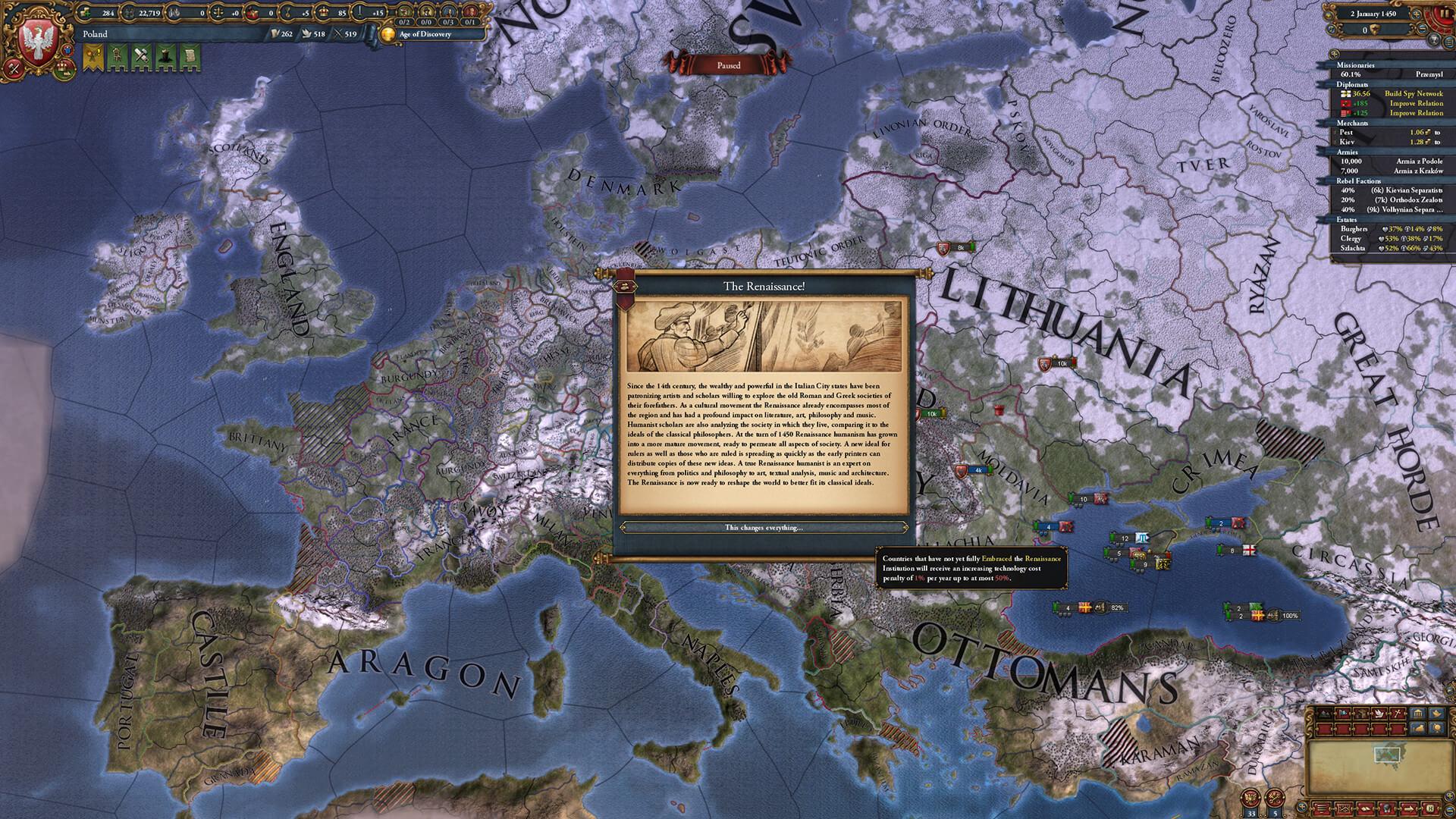 Europa universalis 4 strateji oyunu