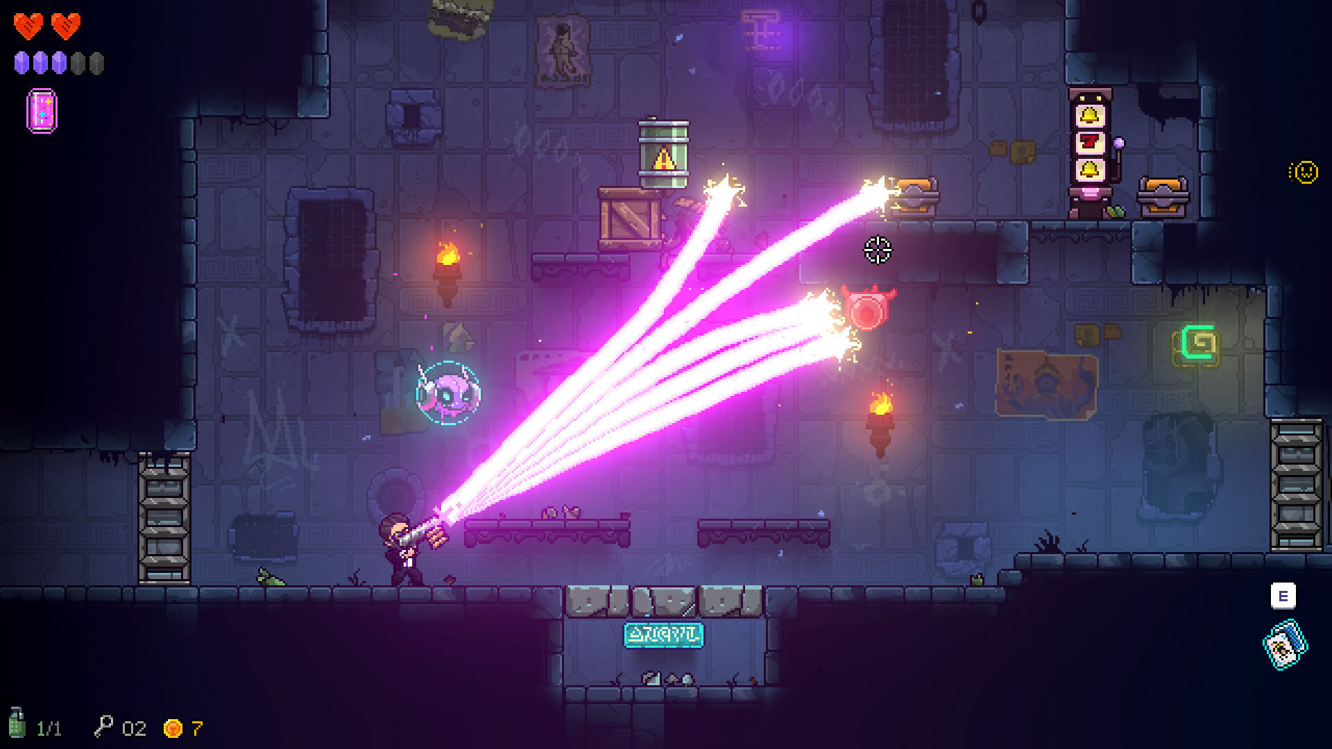 Neon Abyss roguelike oyun