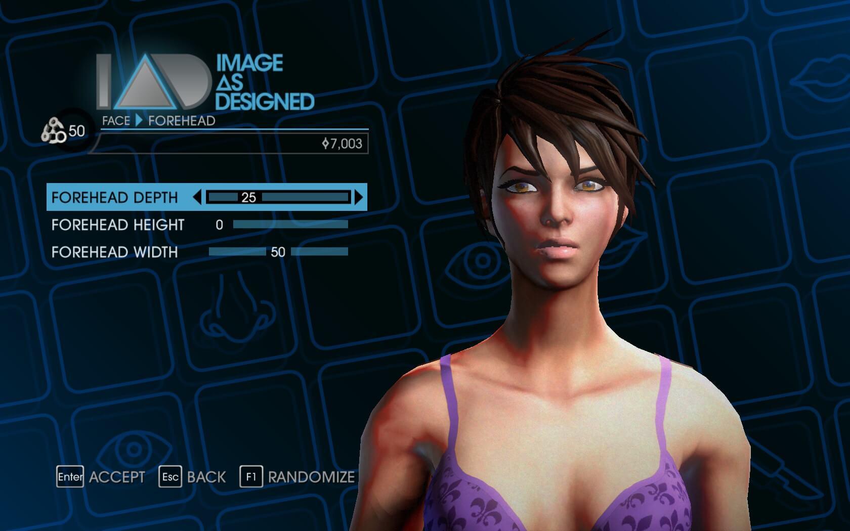 Saints row 4 oyun karakter yaratma ekranı