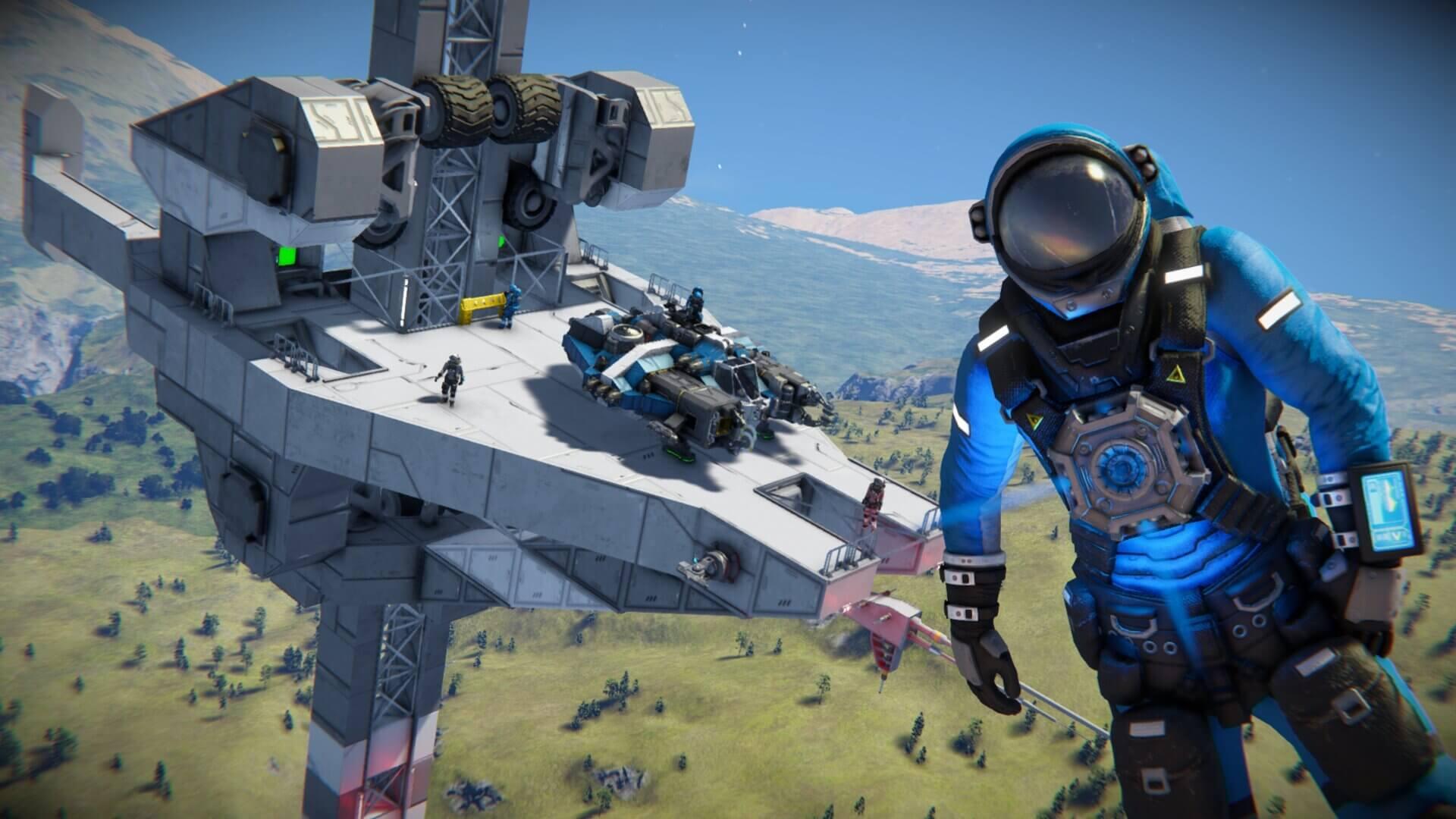 Space engineers co-op uzay oyunu