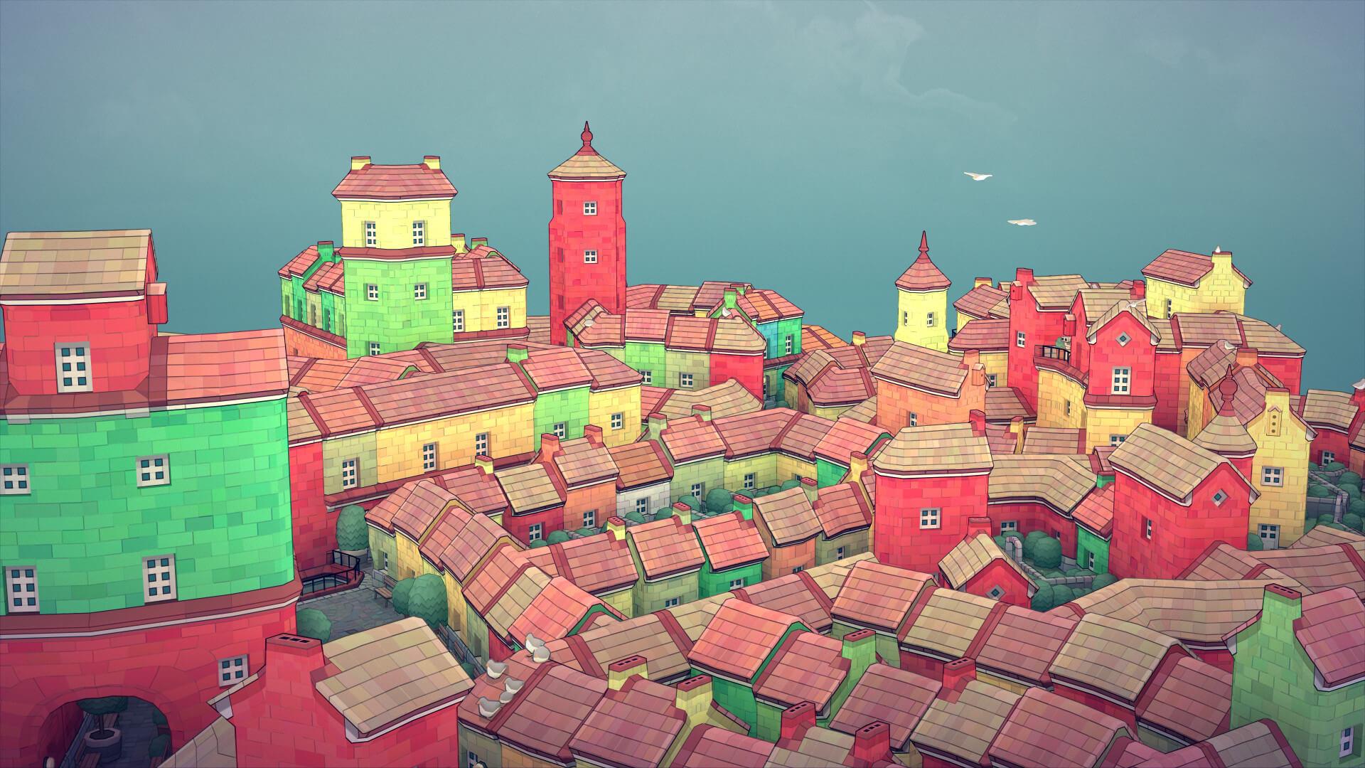 Townscaper Oyun inceleme erken erişim