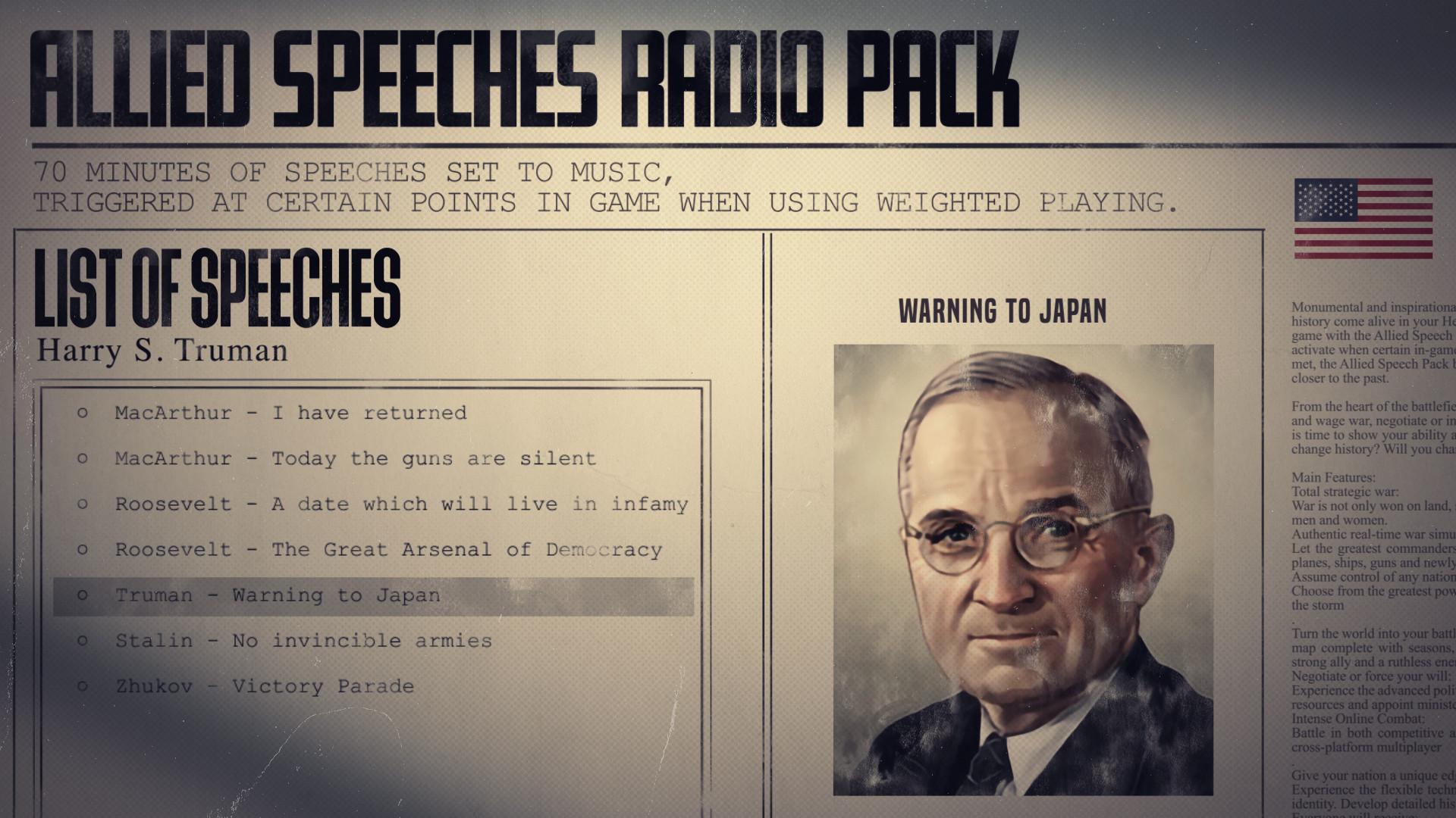 Hearts of Iron IV: Allied Speeches Music Pack PC Fiyatları
